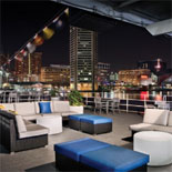 Open air top deck provides the best panoramic views of the historic harbor