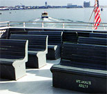 Seats aboard the Provincetown Ferry