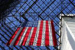 American Flag hanging in the Pavilion