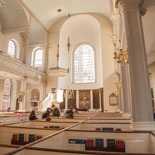 Explore the Old North Church and its box pews