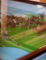 Explore the charming 3-D map of colonial Boston! (Image courtesy of Julie Sterling Photography)