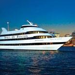Cruise past Boston harbor