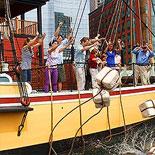 Boston Tea Party Ship and Museum - Throw Tea into the Harbor