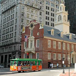 Boston's Old Town Trolley at the Old State House