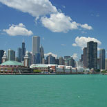 Chicago's Skyline From Lake Michigan