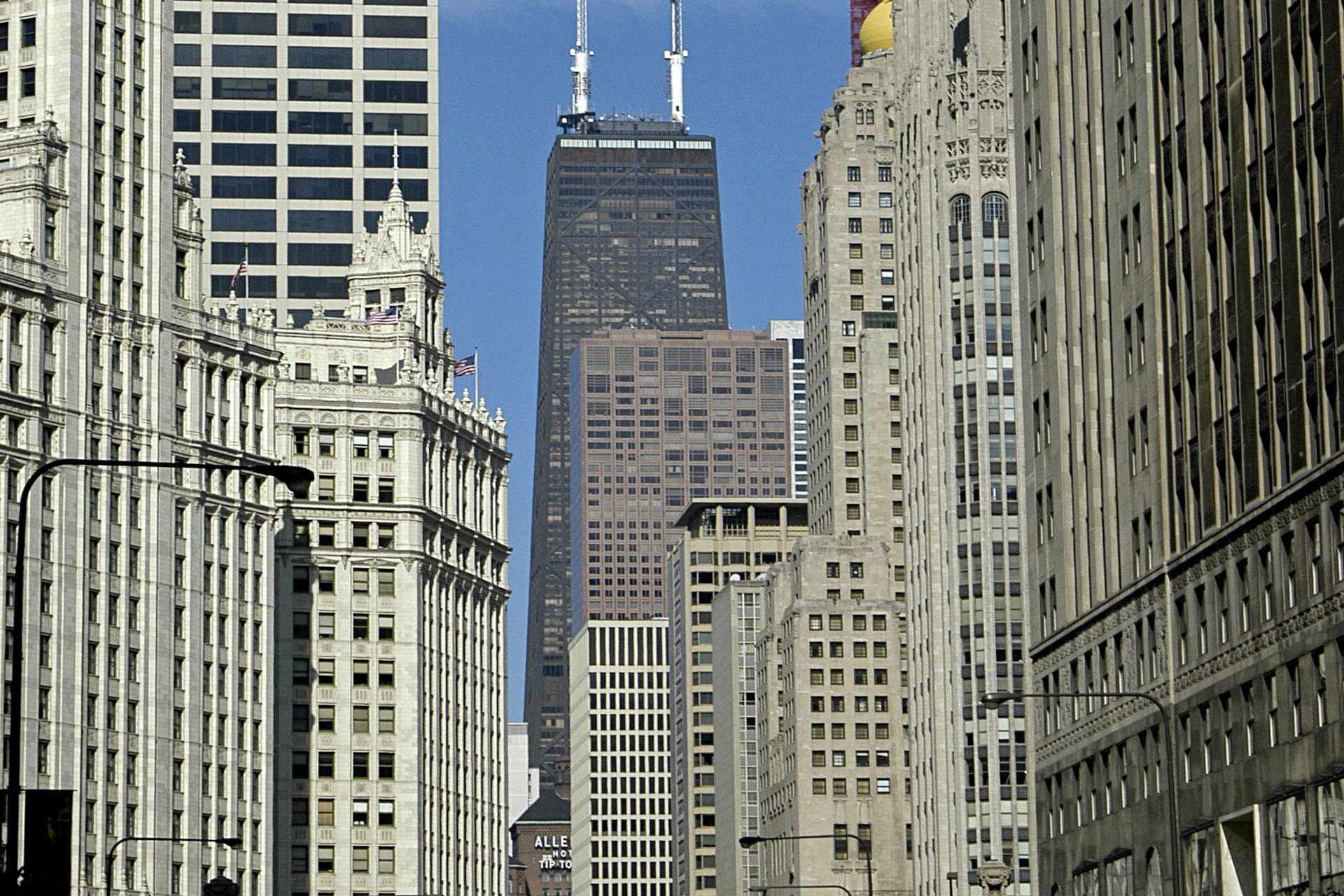 Hancock Building and Michigan Ave