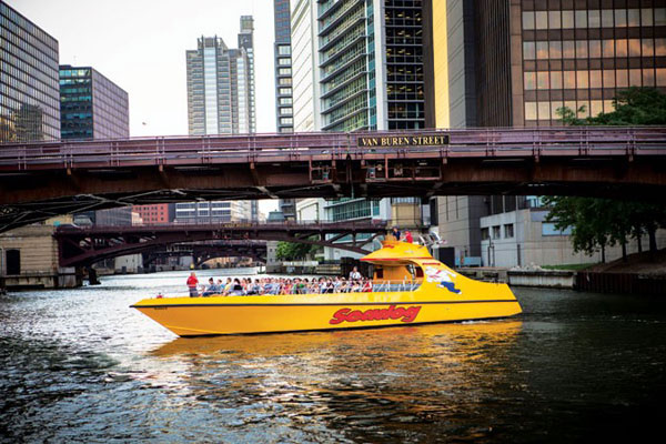 Architectural Tour minute River and Lake Architectural Tour Seadog Chicago's River and Lake Architectural Tour is the only tour to take you from the lakefront, through the locks and along the Chicago River all the way to the famous Willis Tower!