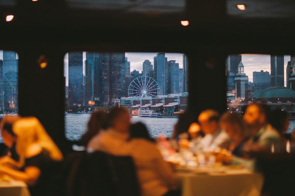 Enjoy dinner with views of the skyline