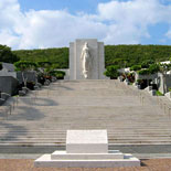 Drive through Punchbowl National Cemetery of the Pacific and the Courts of the Missing