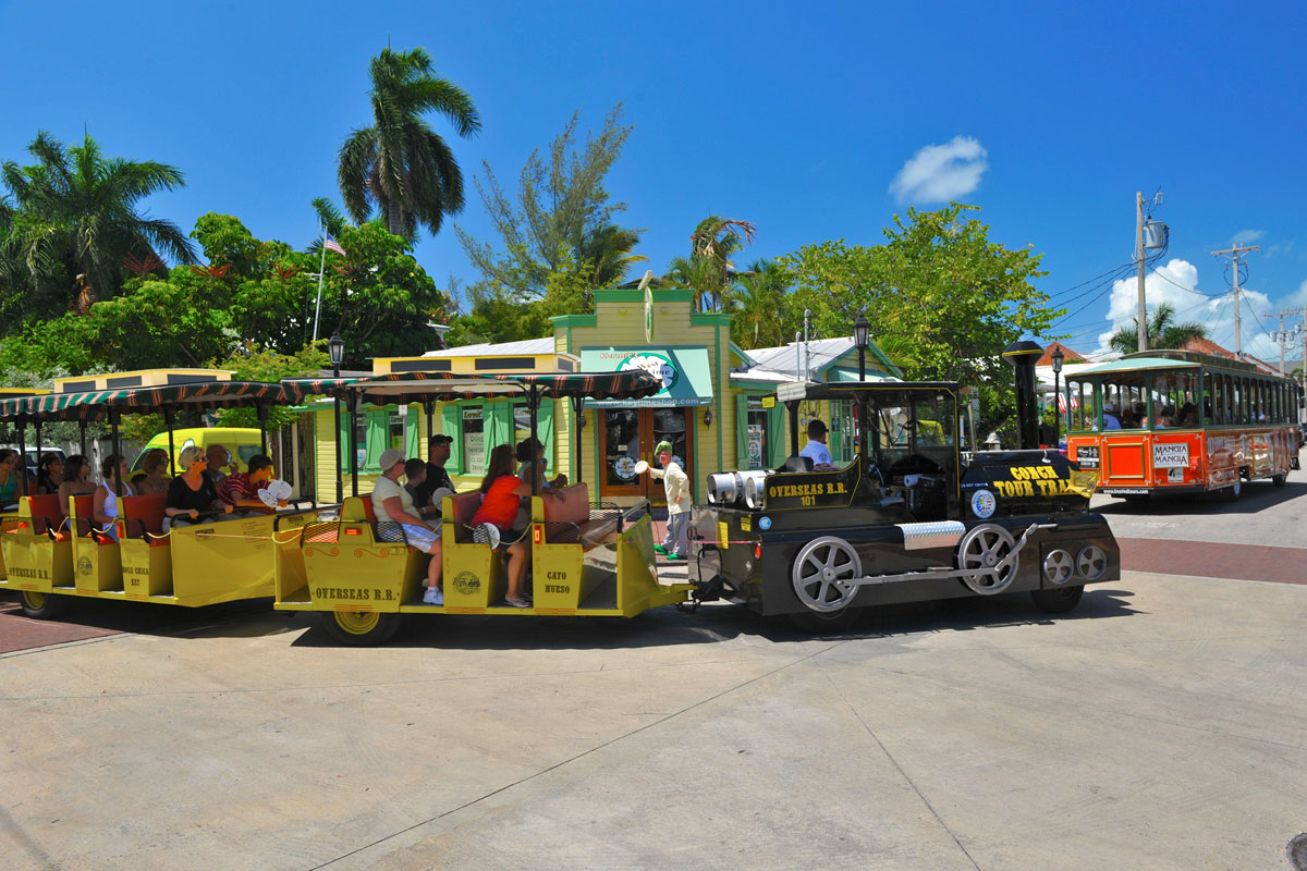 Old Town Trolley and Conch Tour Train