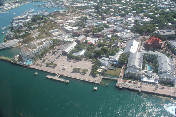Fly high above Mallory Square