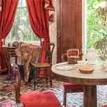 View an exquisitely furnished mansion, numerous first and second edition works and the lush tropical garden that he featured in his artwork.