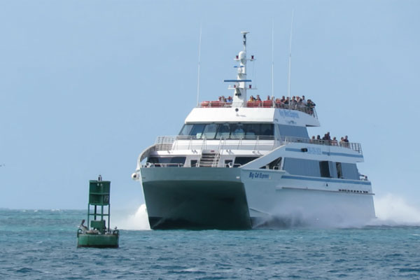 The Big Cat Catamaran at Sea