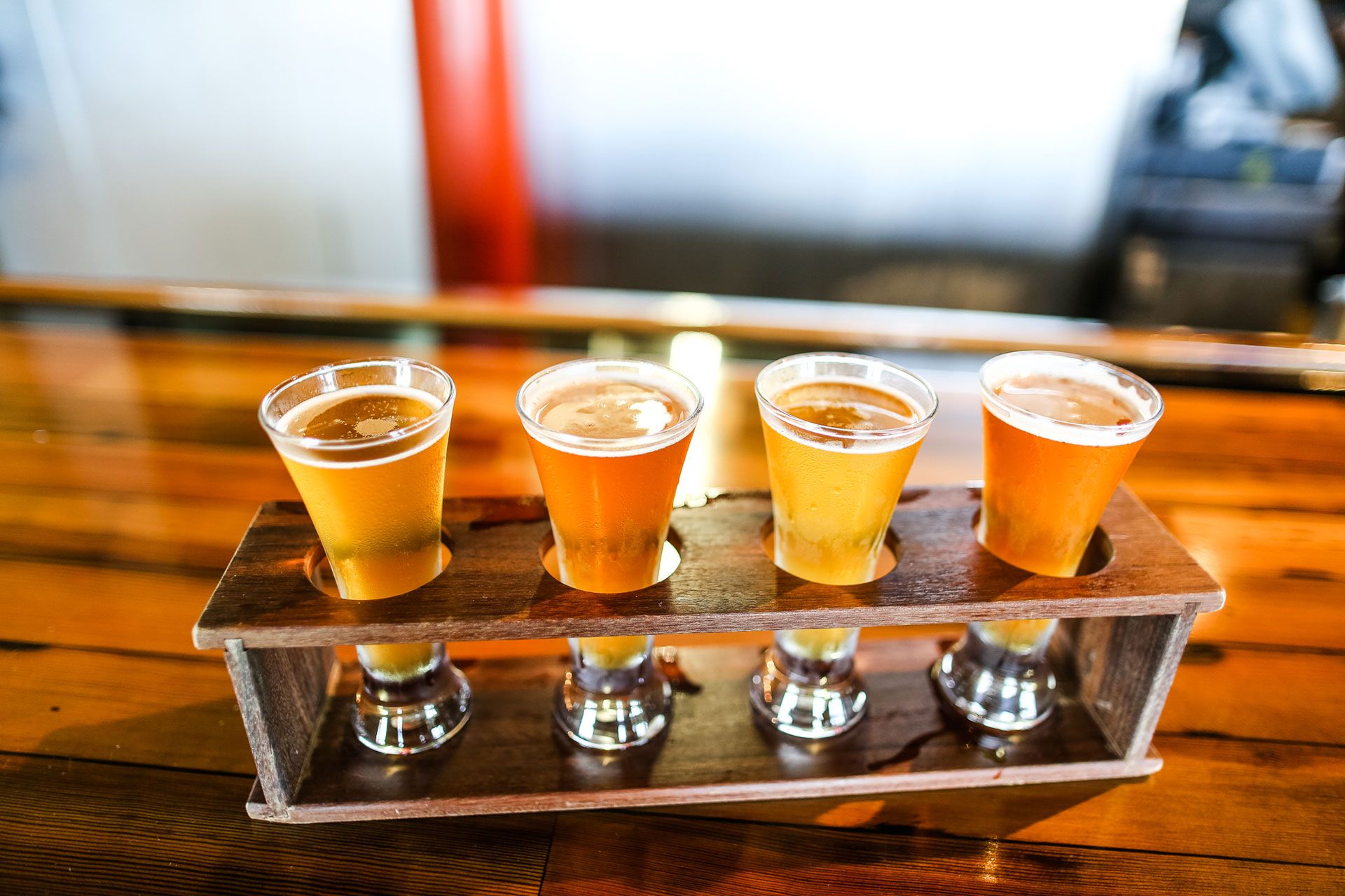 Cap off your experience with a flight of beer