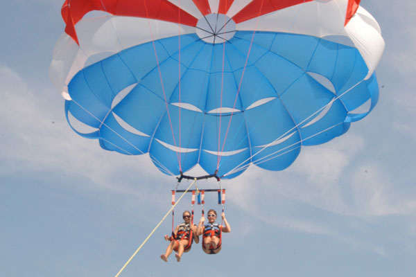 Parasail high above for great views