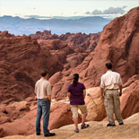 You'll see nature's work-of-art at Rainbow Vista, Atlatl Rock, and Fire Canyon
