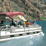 Travel on a Pontoon Boat and enjoy the Colorado River.