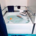 USS IOWA had a bathtub installed for use by President Franklin D. Roosevelt