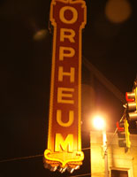 Outside the Old Orpheum Theatre