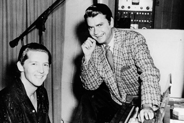 Sam Philips and Jerry Lee Lewis