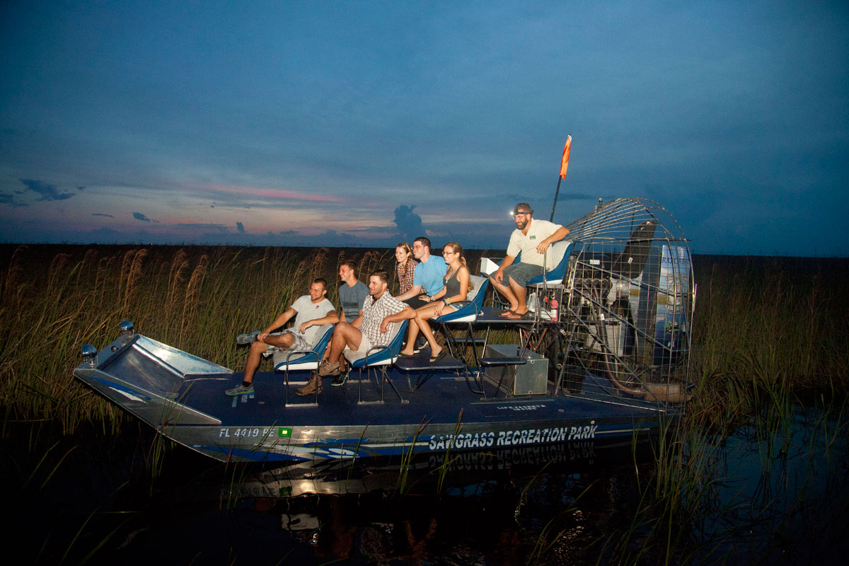 A Nighttime Airboat Airboat Adventure