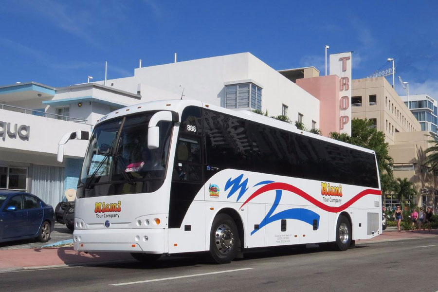 Tour vehicles offering modern luxuries