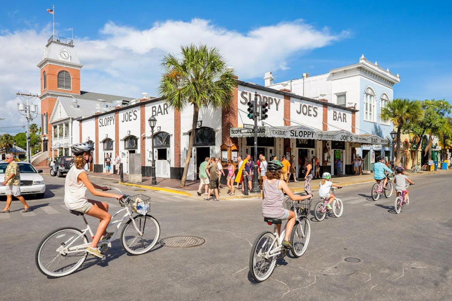Ride down famous Duval Street