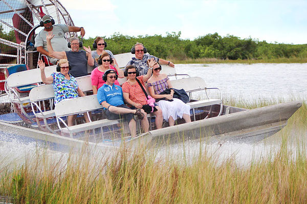 Airboat ride through the backwaters