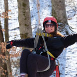 Enjoy soaring through the forest canopy on eight different zip lines