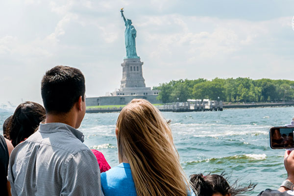 See the majestic Statue of Liberty