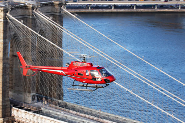 Soar in a helicopter above Manhattan