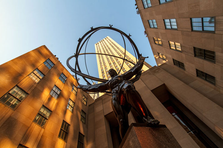 Atlas, the famous statue at Rockefeller Center