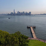 A relaxed afternoon visit to Liberty Island