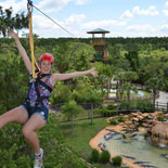 Clip in and zip off on an exciting outdoor adventure with the all-new Screamin' Gator Zip Line