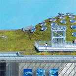 The California Academy of Sciences - Blending seamlessly with the surrounding landscape, the living roof consists of 2.5 acres of indigenous California flora.