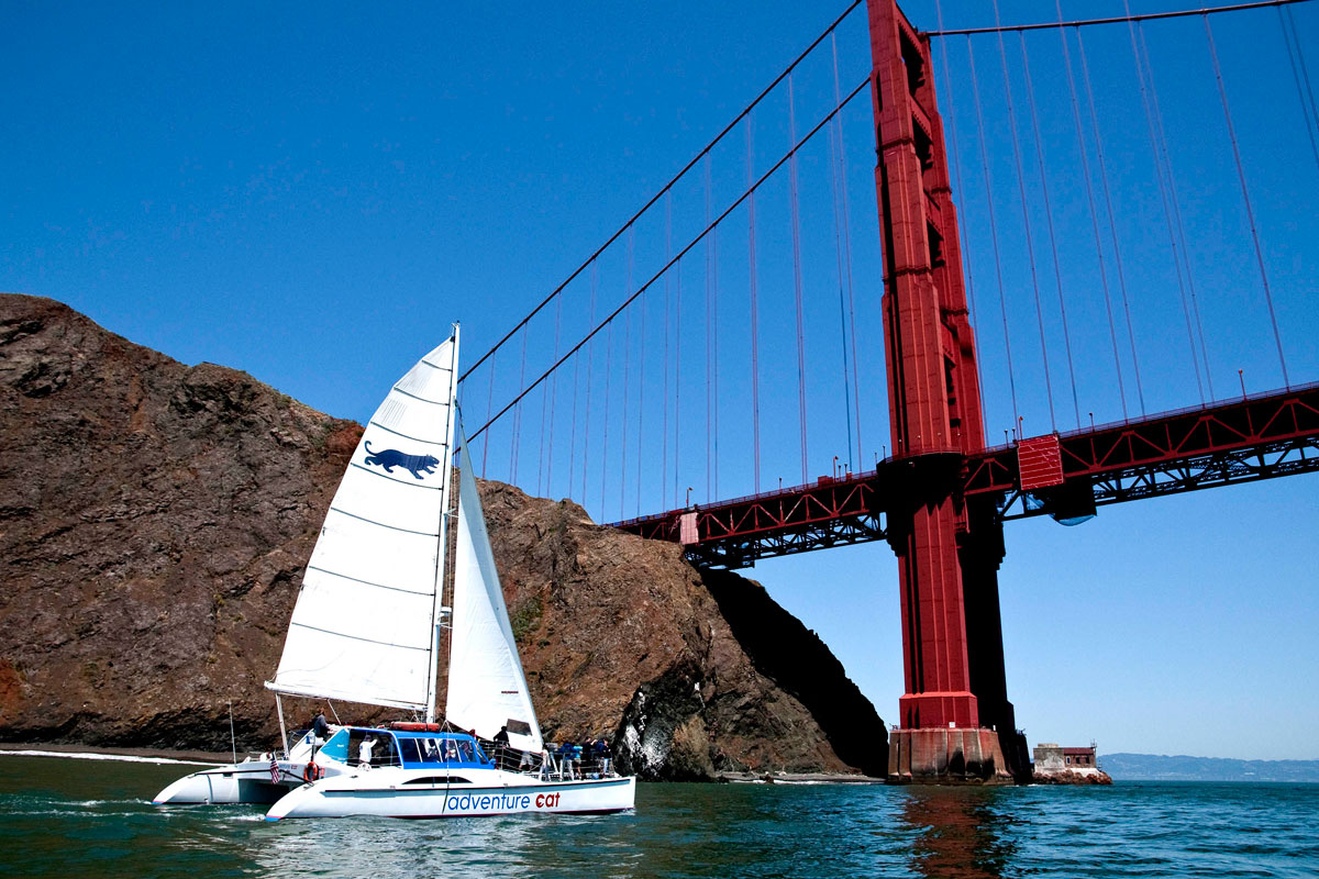 Go UNDER The Golden Gate Bridge