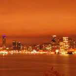 Spectacular views of the city lights