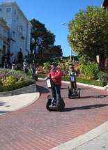 Segways on Lombard Street Crooked Street Tour