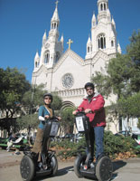 Segway tour visits North Beach Washington Square Park with St Peters and Paul Church