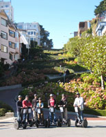 Segway tour at the bottom of the World's most Crooked Street - Lombard Street