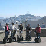 Segway tour overlooking Coit Tower and San Francisco Bay