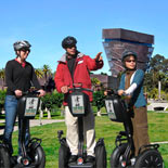 Golden Gate Park Segway Tour with deYoung Museum and Music Concourse in the background.