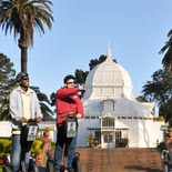 Golden Gate Park Segway Tour with the world famous Conservatory of Flowers in the background.