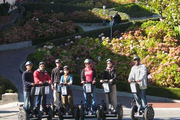 Segway Down Famous Lombard Street