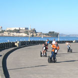 Exploring the Maritime Pier on the San Francisco Waterfront Segway Tour. A great place to ride the Segway i2.