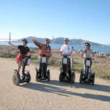 Great Golden Gate Bridge views are part of the guided Waterfront Segway Tour in San Francisco.