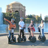 Stopping at the Palace of Fine Arts on the Waterfront Segway Tour.