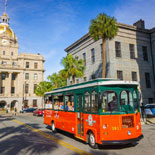 Savannah City Hall and Old Town Trolley