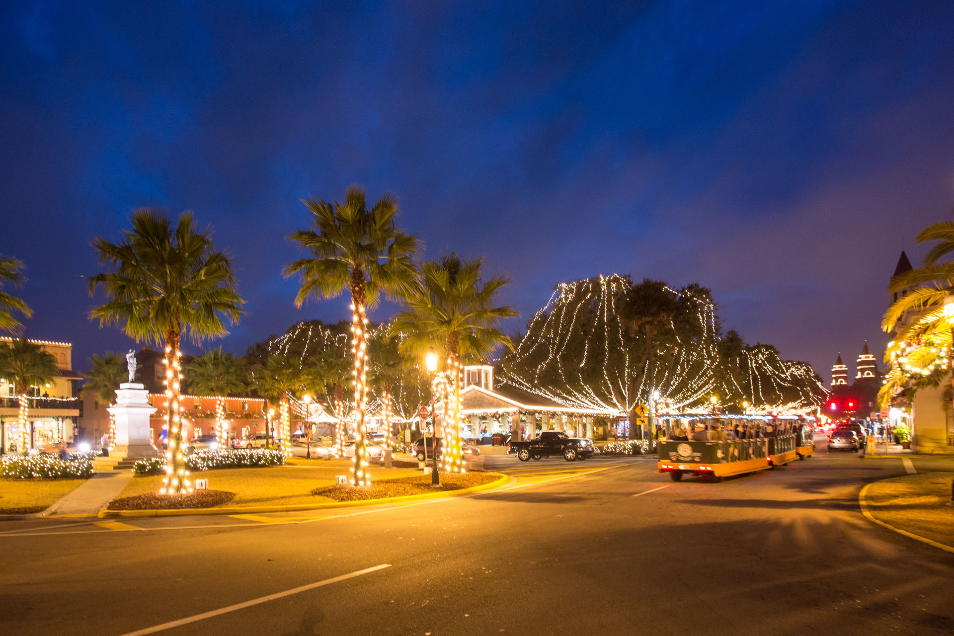 Millions of White Lights in Historic District