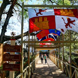 Stroll Under Our Boardwalk Of Flags